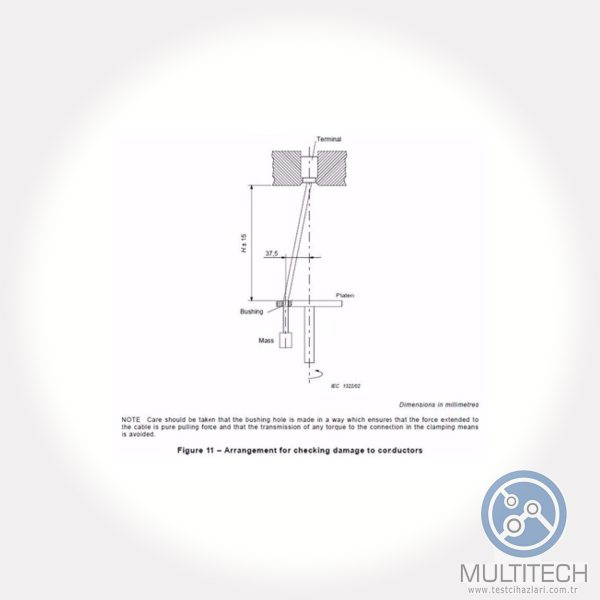 test apparatus for terminals